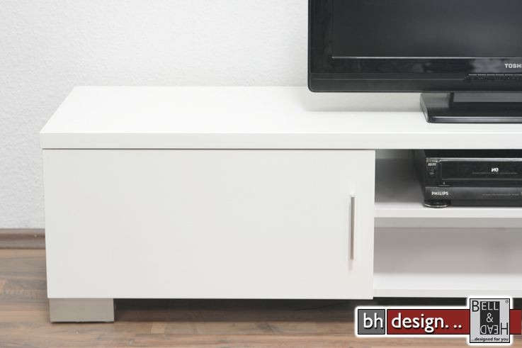 ray tv tisch hochglanz weiss powered by bell head. Black Bedroom Furniture Sets. Home Design Ideas