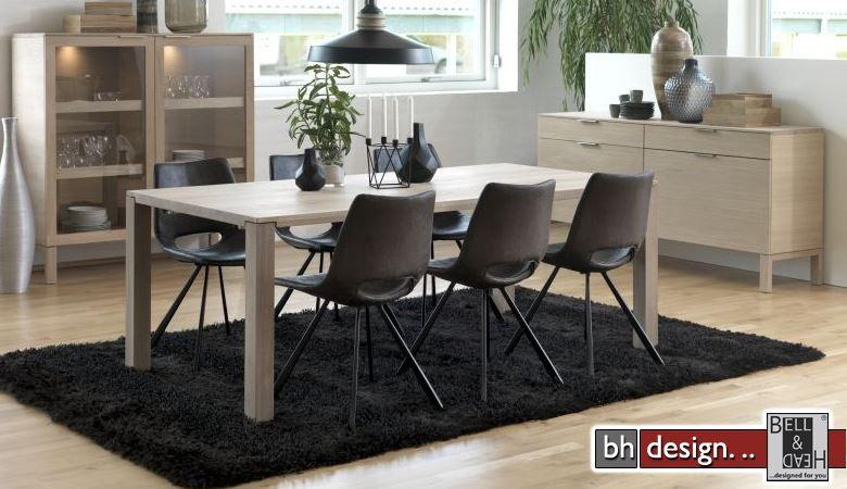 repay esstisch by canett design eiche echtholzfurnier weiss ge lt ausziehbar 200 bis 300 cm. Black Bedroom Furniture Sets. Home Design Ideas