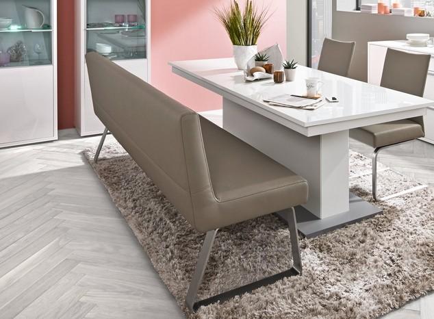 arte m polsterbank sam mit lehne in verschiedenen farben. Black Bedroom Furniture Sets. Home Design Ideas