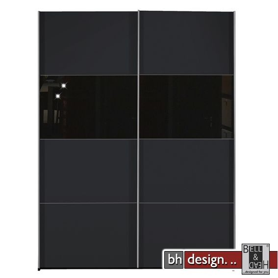 arte m schiebetuerenschrank style schwarz schwarzglas powered by bell head preiswerte. Black Bedroom Furniture Sets. Home Design Ideas