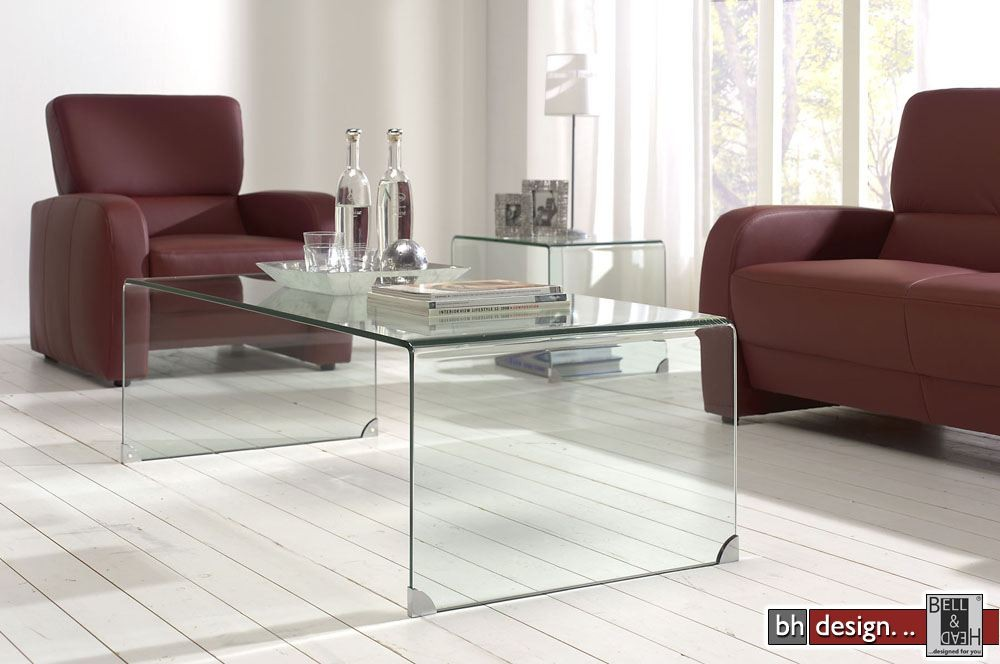 Design couchtisch komplett aus glas powered by bell head for Designer couchtisch glas