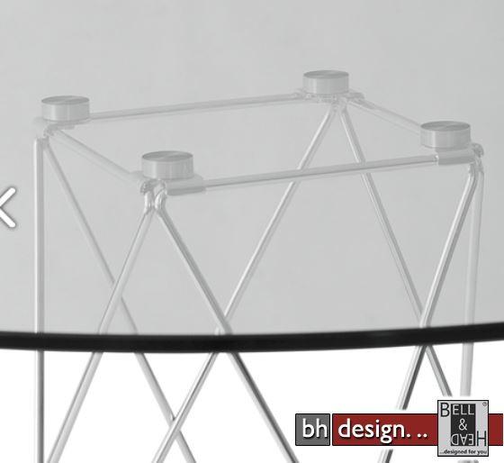 traliccio esstisch glas und chrom 100 cm alternativ 110 cm rund powered by bell head. Black Bedroom Furniture Sets. Home Design Ideas