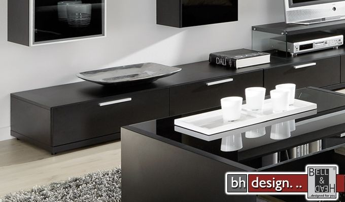arte m tv element game schwarz 180 x 24 5 cm powered by bell head preiswerte versandkosten. Black Bedroom Furniture Sets. Home Design Ideas
