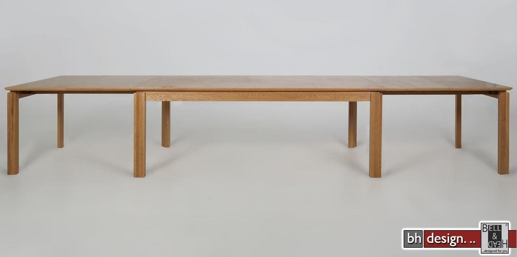 Kulissentisch Ausziehbar ventura esstisch by bhdesign eiche echtholzfurnier 200 cm bis 400 cm
