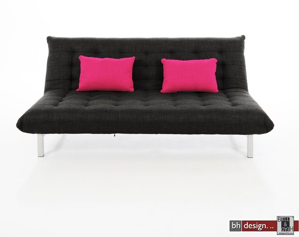 Zelbio bettcouch new york stoff antrazit powered by bell for Schlafsofa york