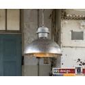 Factory Line Hängelampe gebranntes Metall mit Holz Ø Lampenschirm 53 cm