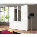 Express Möbel Drehtürenschrank Brooklyn, hochglanz, Spiegel und Schubladen, Höhe 216 cm oder Höhe 236 cm