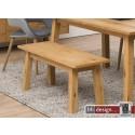Chara Sitzbank Wildeiche Furnier geölt  110 x 38 x H 46 cm, skandinavien Style