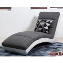 Slinky Relaxliege mit dicker Polsterung grau/weiss