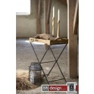 Factory  Tablettisch Beistelltisch  by Canett Design in Mangoholz massiv  56 x 40 cm