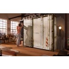 Express Möbel Schwebetürenschrank Cargo im Container Design, OFF WHITE, 150 cm bis 300 cm , Höhe 216 cm