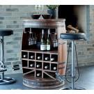 Crazy Weinfaß, Bartisch oder Weinregal, dunkel gebeizt  by Canett Design  67 x H 90 cm