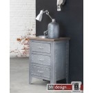 Factory Line Kommode  Detroit by Canett Design, Metall used Look und  Mangoholz 55 x 78 x 43 cm
