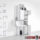 """Just a Box Wohnkombination Modell """"Tower"""" by NOOBEEASS 187,5 x 225 x 39 cm in verschiedenen Varianten"""
