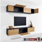 """Just a Box Wohnkombination Modell """"Wall"""" by NOOBEEASS 225 x Variabel x 39 cm in verschiedenen Varianten"""