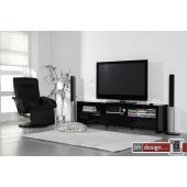 Silas Fernsehschrank Hochglanz schwarz oder weiss wählbar 150 x 50 cm (Extreme Gloss)
