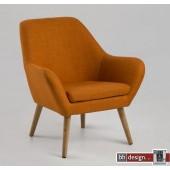 Astro Lounge  Armlehnstuhl Corsica Stoff verschiedene Farben und Eiche Beinen