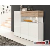 Arte M Highboard Beam 3 Türen, ein Schubkasten in verschiedenen Farben und Stellvarianten 150 x 128 cm