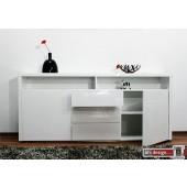 Brühl Sideboard hochglanz weiß 180 cm