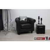 Charlietown Sessel im Vintage Style  Schwarz Bycast
