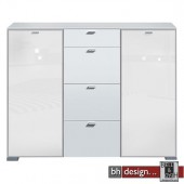 Arte M Highboard Gallery Super Plus Weiss/Weissglas 150 x 116 cm