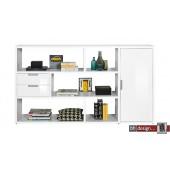 Arte M Regalsystem One mit 1 Tür, 2 Schubladen in verschiedenen Farben 195 x 111 cm