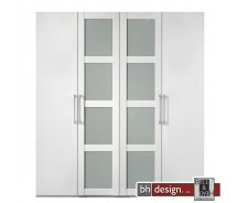 Arte M Drehtrenschrank Multimatch Weiss / Floatglas H 213 cm