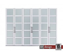 Arte M Drehtrenschrank Multimatch Weiss / Floatglas H 236 cm