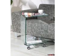 Thilde Beistelltisch gebogenes Glas T 45 x H 63 cm