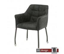 Cluby 2 Stuhl auf Rollen mit Armlehnen in verschiedenen Farben