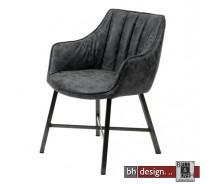 Cluby 3 Stuhl, Vierkant Beine Vintage mit Armlehnen in verschiedenen Farben