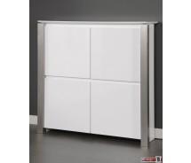 Carla Kommode/Wandschrank  Hochglanz  weiss 145 x 145  x 40 cm (Extreme Gloss)