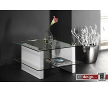 Carla Couchtisch Hochglanz Weiss 70 x 70 cm (Extreme Gloss) 