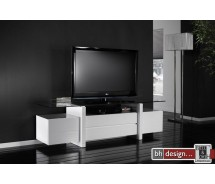Carla TV-Bord  Hochglanz  weiss 175 x 45 cm (Extreme Gloss)