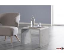 Stone Line Beistelltisch Arco im Beton Style grau  50 x 50 cm
