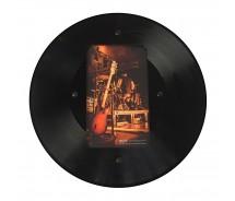 Runder LP Bilder-Rahmen aus echter Vinyl-Schallplatte mit Bildausschnitt 17,5 x 10,5 cm