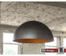 Industrie Line Hängelampe Metall shabby look, H 150 cm, Ø Lampenschirm 80 cm