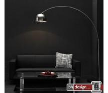 Lounge Line  Line Bogenlampe Silber matt  218  x 225 cm