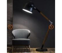 Lounge Line Stehlampe mit verstellbaren Holzgestell 150 x 90 cm
