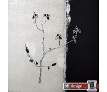 "Bilderset 40 x 40 cm ""Black roses"""