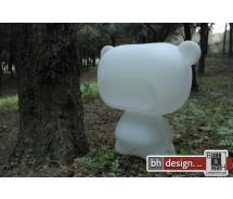 Pure light Designer Bär in weiß