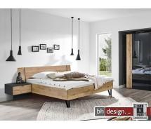 """Arte M Bett """"Moon"""" Schwebesockel oder Vierfuß incl. 2 Nachtkonsolen, verschiedene Größen und Varianten"""