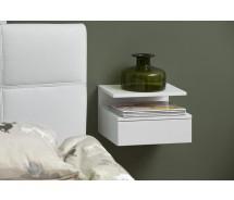 Ashlan Nachtkonsole für Wandmontage 35 cm x H 22,5 cm  Weiss