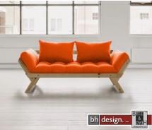 Bebob, Designer Sofa by Karup Design mit klappbaren Seitenteilen und Futonauflage