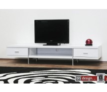  Bonseo TV-Tisch hochglanz weiss 200 x 58 cm