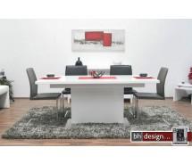 Brühl Säulentisch Hochglanz Weiss 130/180 cm