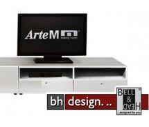 Arte M Carry TV-Element Weiss mit Schubkästen