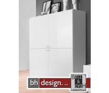 Arte M Carry Kombination Weiss/Weiss Hochglanz 141 x 144 x 36 cm