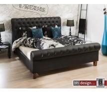 Cedarville Polsterbett Chesterfield Style Durabak schwarz 200 x 180 cm