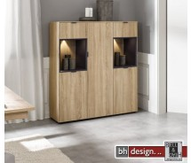 Arte M Highboard Chase, 3 Türen, 2 Schubkästen, verschiedene Farben 122 x 137 x 40 cm